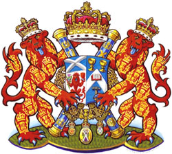 The Arms of the present Lord Lyon, David Sellar