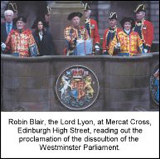 Lord Lyon at the Mercat Cross, Edinburgh
